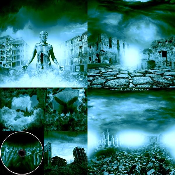 Ruins-arise-black-death-thrash-metal-core-cover-de by MOONRINGDESIGN