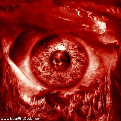 Red-eye-black-death-heavy-thrash-metal-cover-album by MOONRINGDESIGN