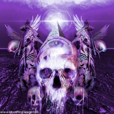 Skull-spears-black-death-heavy-thrash-metal-cover- by MOONRINGDESIGN