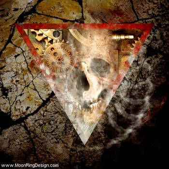 Time-trap-cd-cover-album-artwork-design-metal-doom by MOONRINGDESIGN