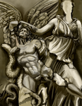 Athena fights Alkyoneos by hrum