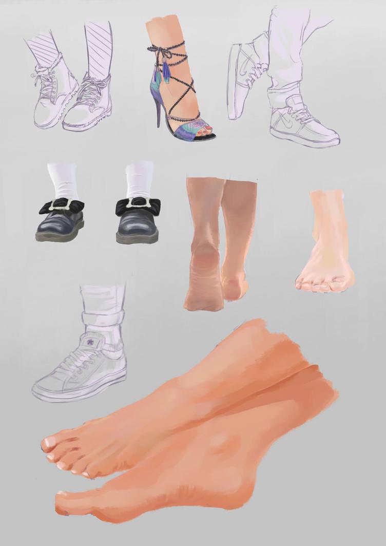 Feet Study by Elena-chan02