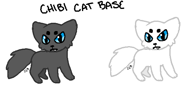 Chibi Cat Base by CoughEBeanz