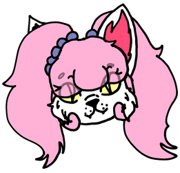 kitty head sticker by The-unknow-6470