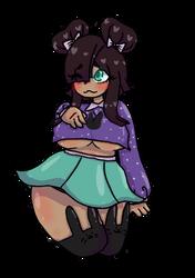 shy waifu girl