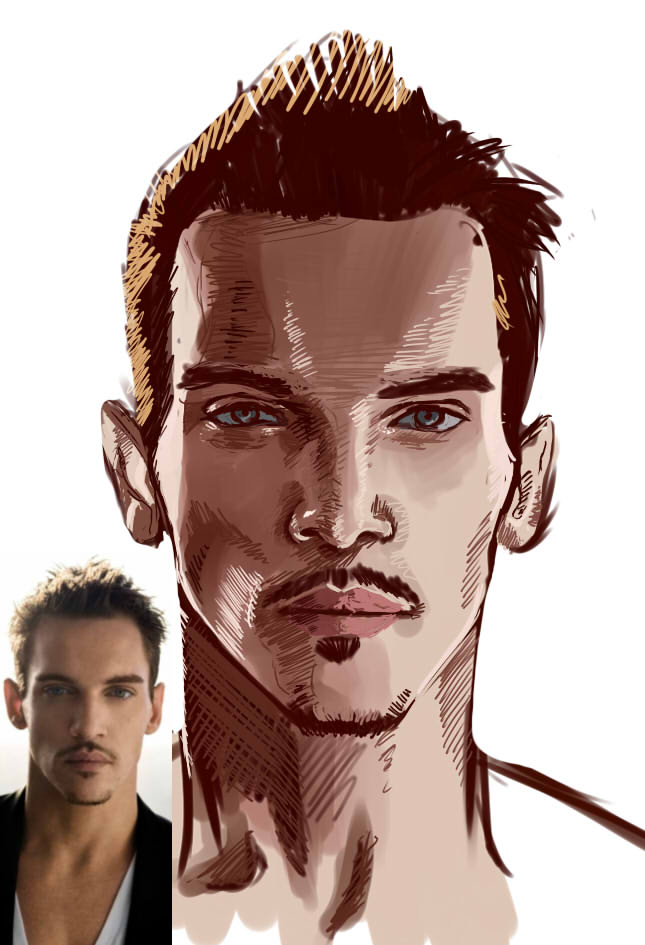 30 Famous Faces Challenge, Day 1 - Jon R Meyers by ElGrell