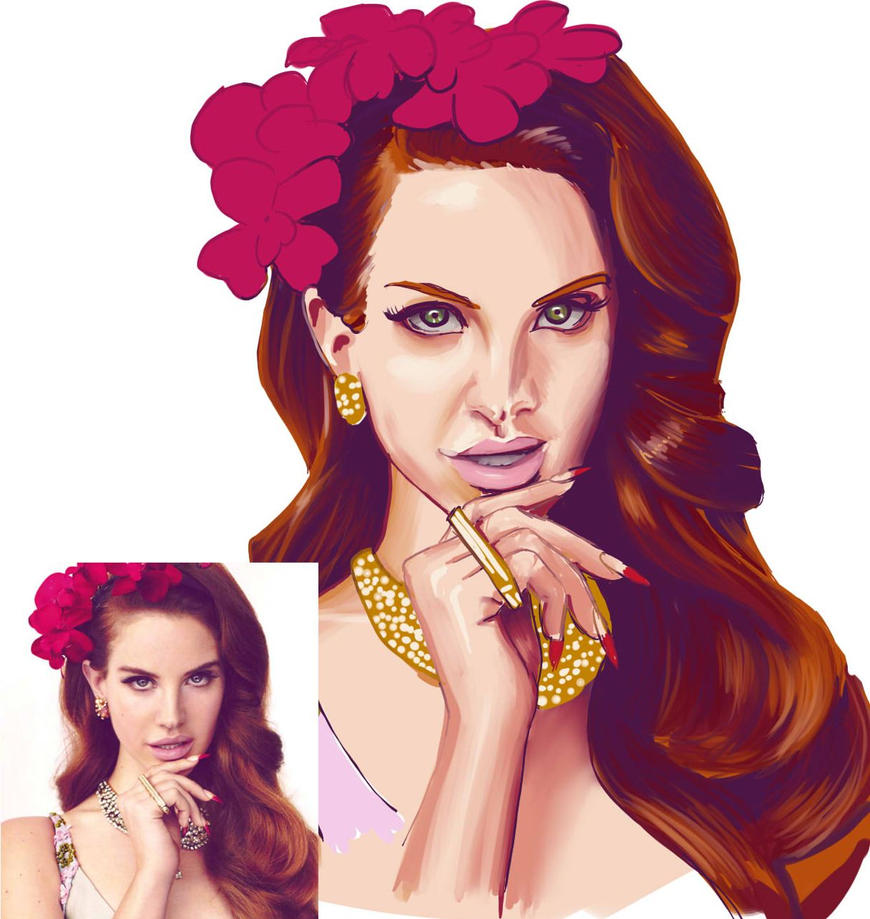 30 Famous Faces Challenge, Day 3 - Lana Del Rey by ElGrell