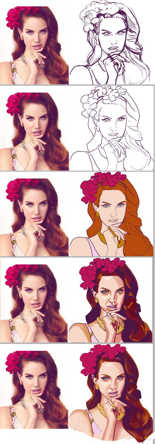 30FFC D3- Lana Del Rey Process by ElGrell