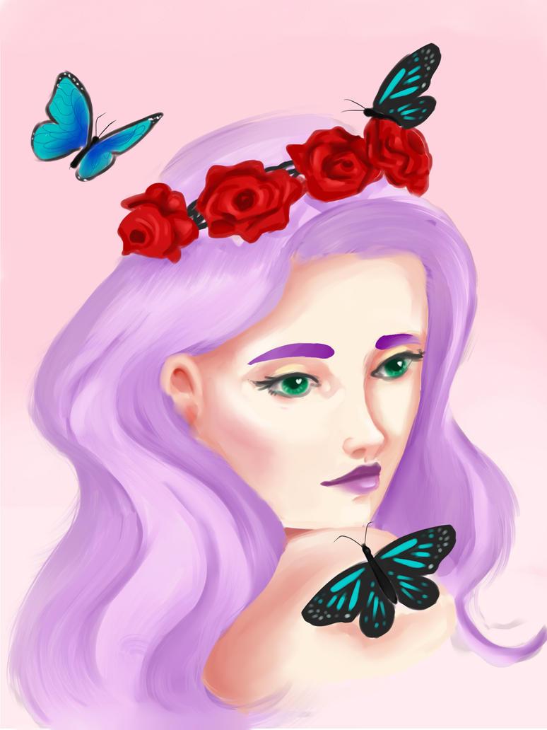 Blue Butterflies by EllenCrissy