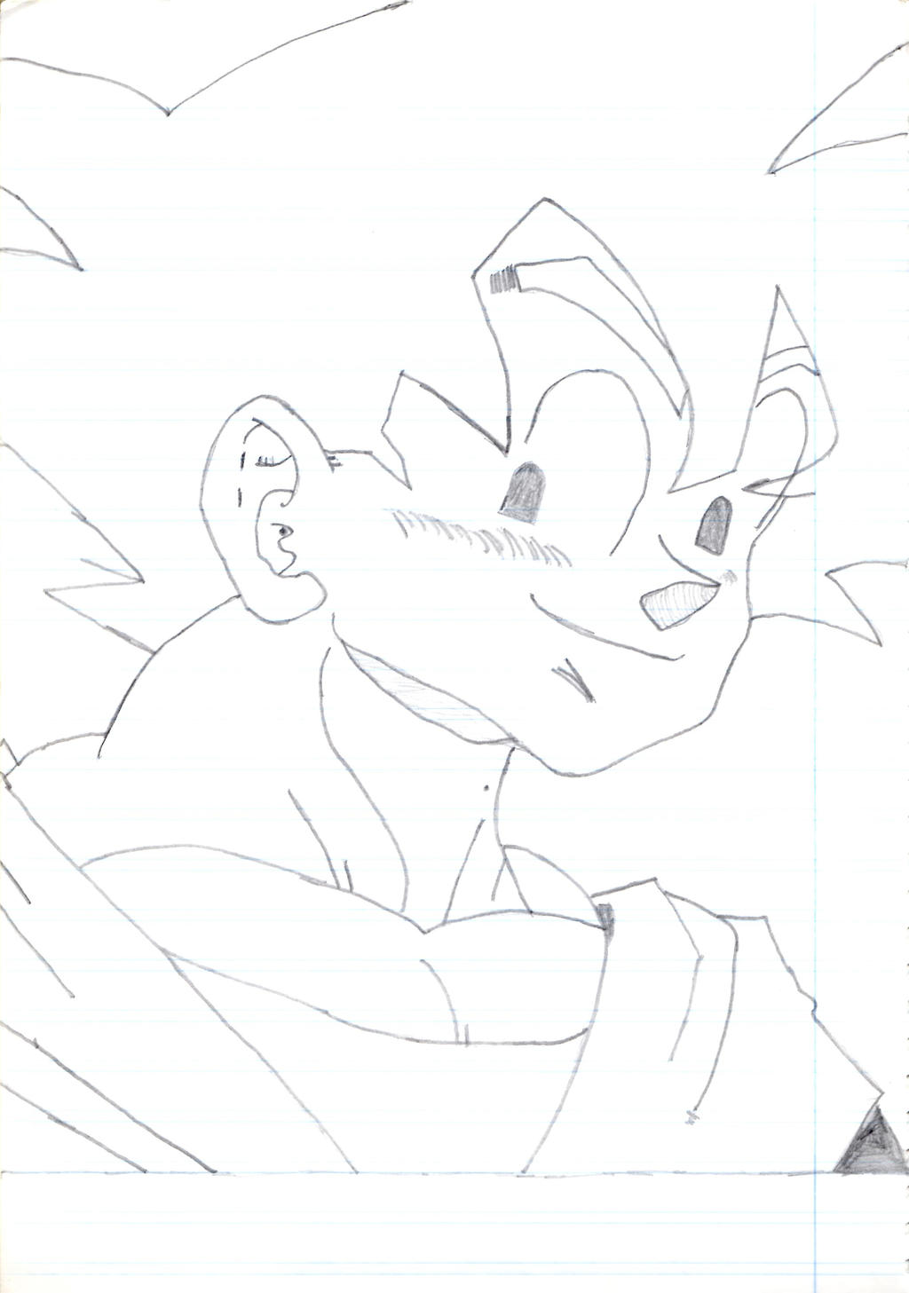 Son Goku sketch portrait 1996