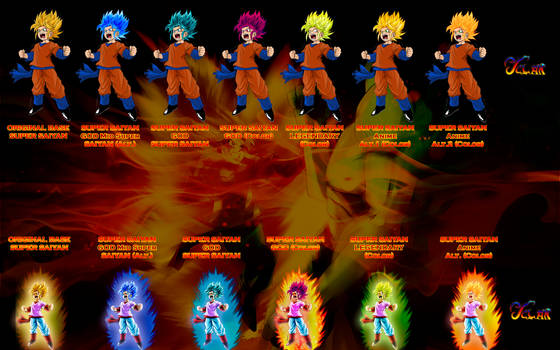 Pan Super Saiyan Colors Palette v.1