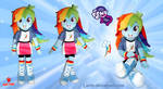Equestria Girls - Rainbow Dash - Plush Doll