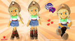 Equestria Girls - AppleJack - Handmade Plush Doll