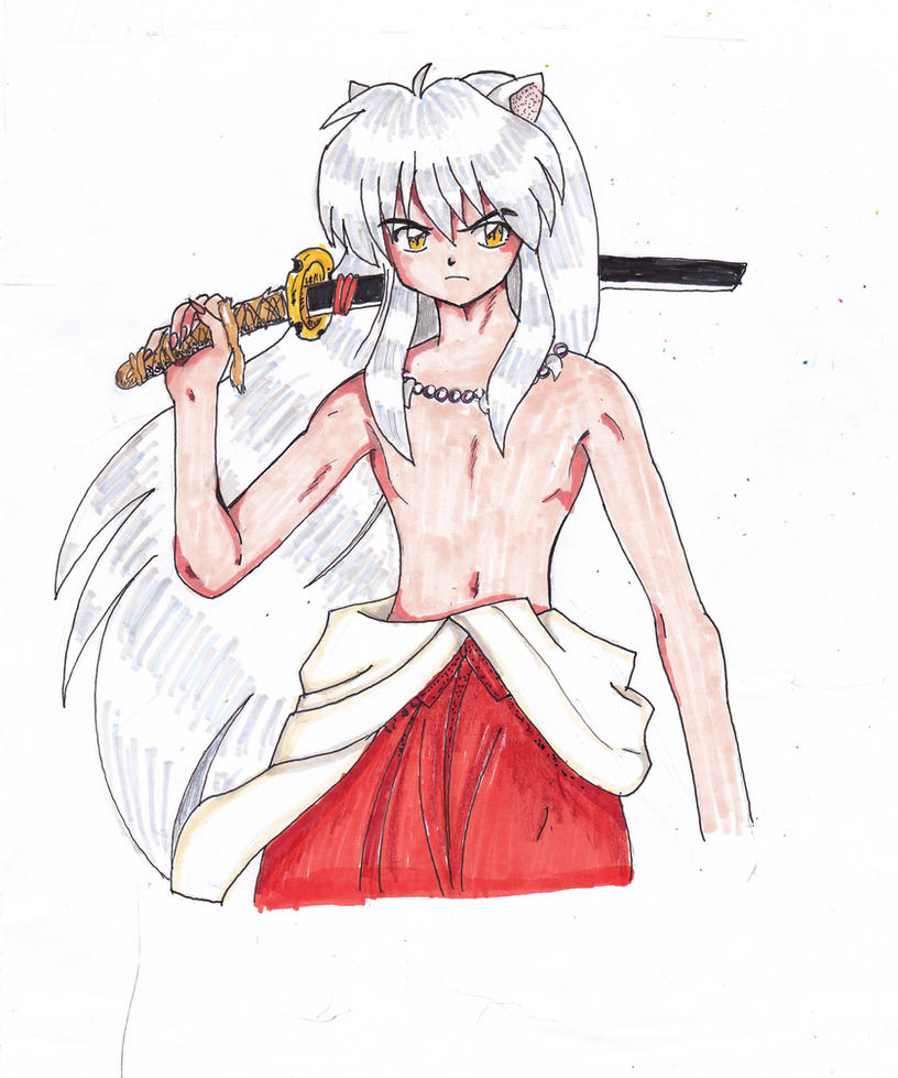Shirtless Inuyasha...again. by Kitten-Bubblepuff