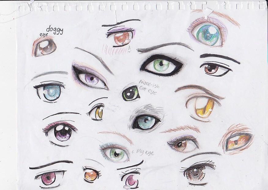 Eye practice :p by Kitten-Bubblepuff