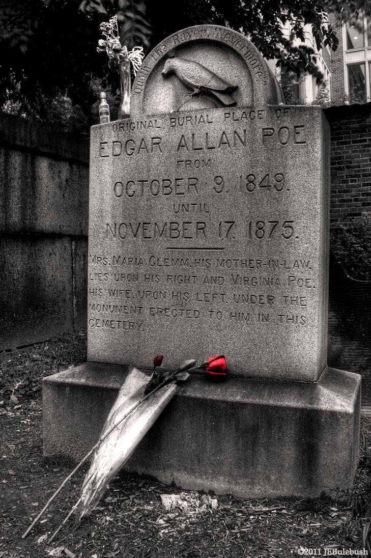 Edgar Allan Poe Original Grave by Bulephotography