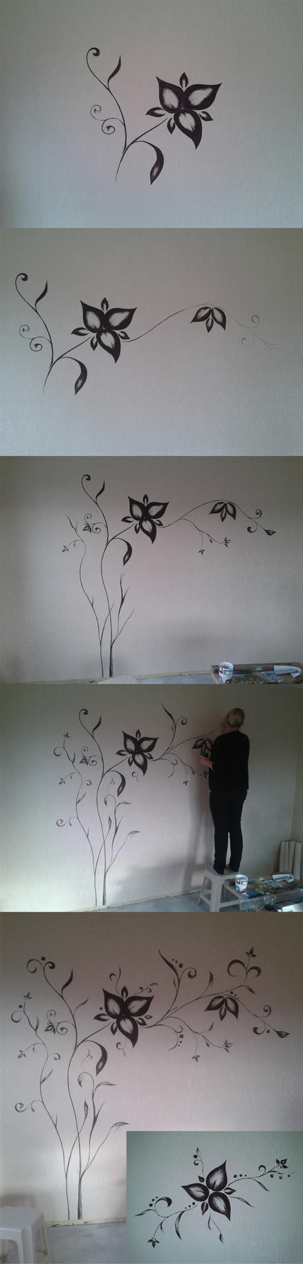 Wall Tattoo step by step by Tamilia