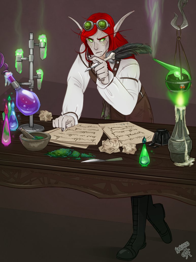 Aniron the apothecary by Rosewhiplash