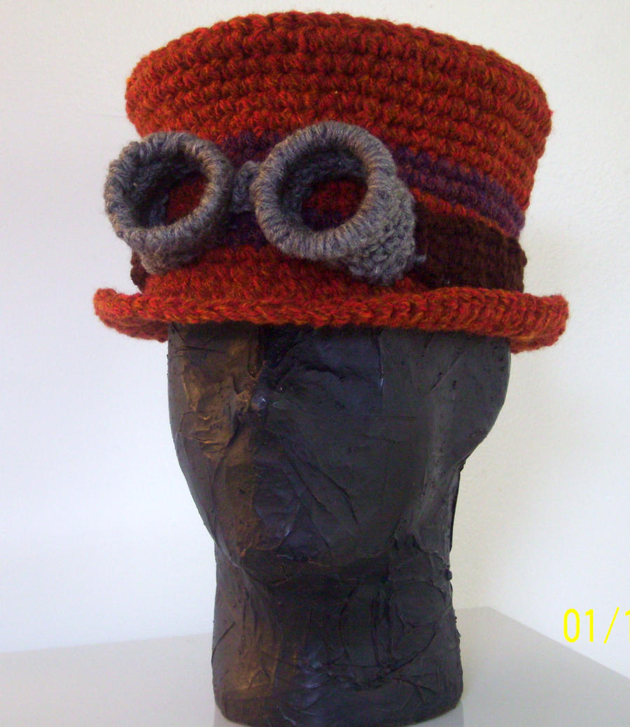Patterns For Knitted Dog Coats : steampunk tophat with goggles by cajunvixen on DeviantArt