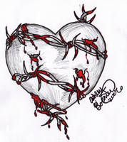 Barbed Wire Heart by Boomboom34