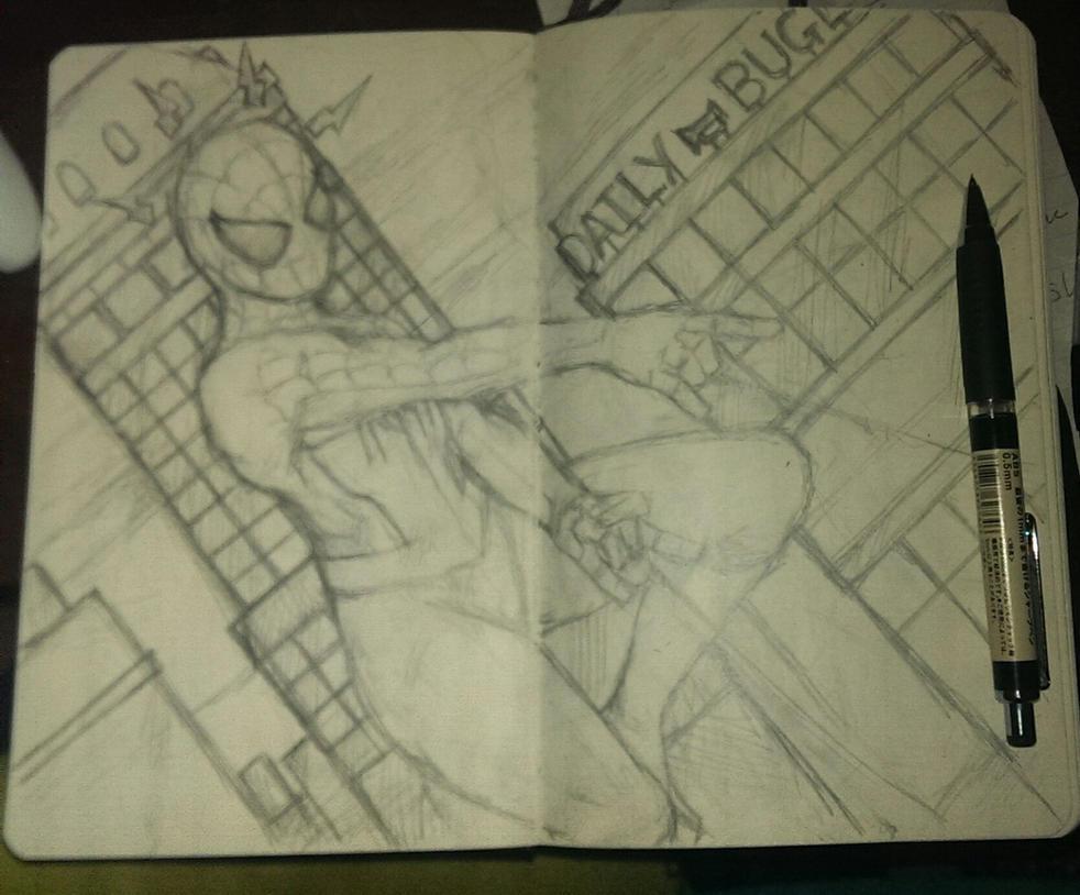 WIP Spider-Man sketch by 8thavalon