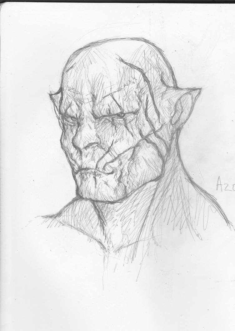 Silver orc Azog  by 8thavalon