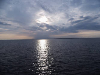 Northsea sunset from ship