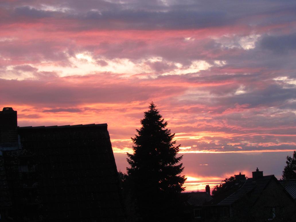 Autumn sunset by bormolino