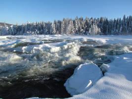 Waterfall in Storforsen nature reserve - Sweden
