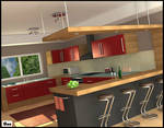 Kitchen interior by akdesignstudios