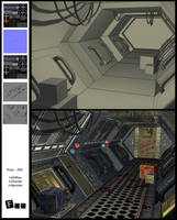 Low poly corridor by akdesignstudios
