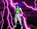 Leona Heidern with SSJ7 power by gokuaf2020x