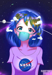 Earth-chan by FluffyDus