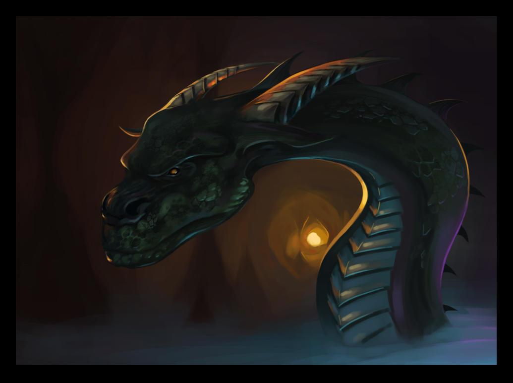 Grumpy dragon by artimac