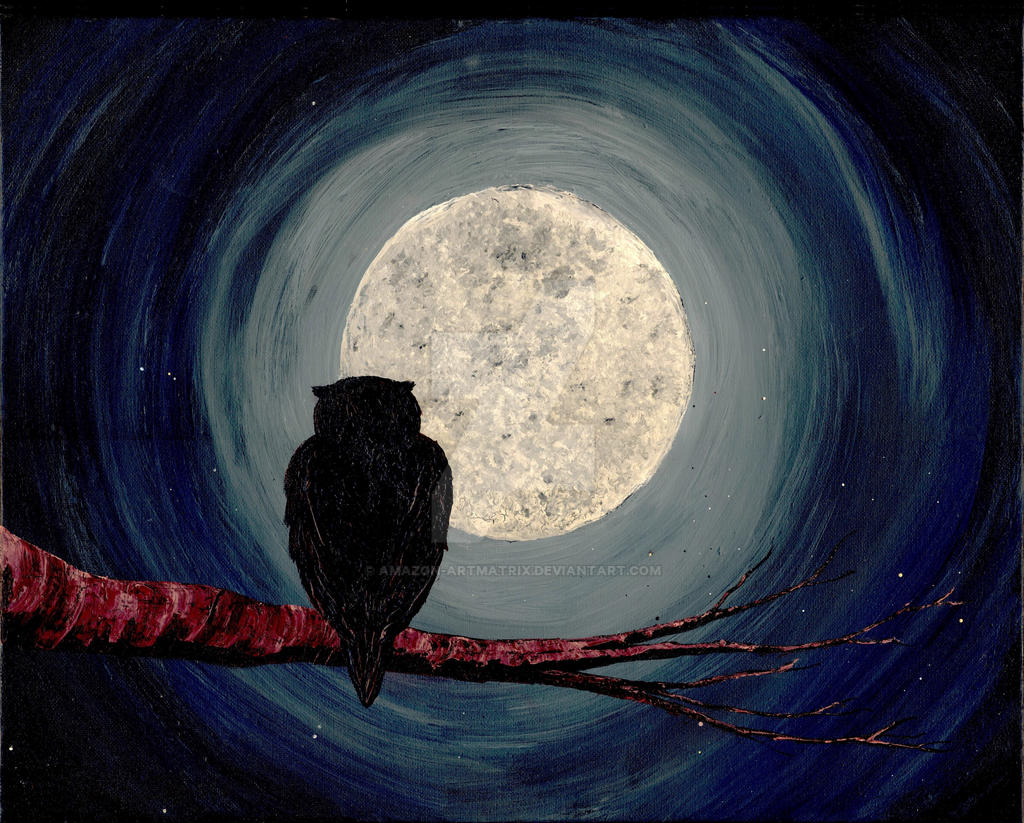 NIGHTLY COMPANIONS (owl / moon art) ~ by AMAZON-ARTMATRIX on ...