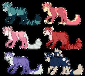 Red Panda(ish) Adopts by kit-kqt