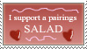 Pairings Salad Stamp by Amberstarthunder