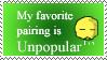 Unpopular pairing stamp by Amberstarthunder