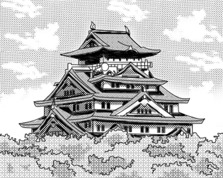 Black EM 19 0 Japanese Castle By Deirei