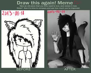 Redraw meme by MetallGirl666