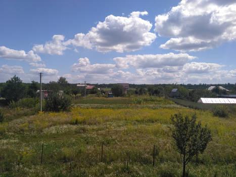 Quiet and peaceful Ukrainian landscape
