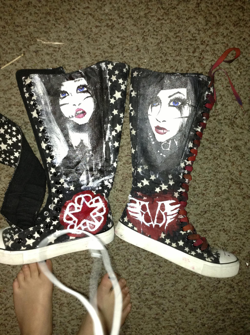 BVB andy biersack shoes painted by SuzukiSan15