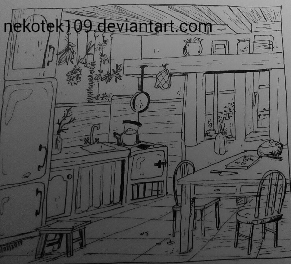 Concept art - kitchen by nekotek109