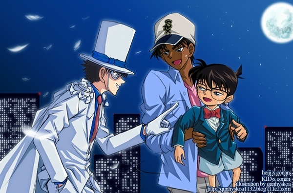 heiji x conan or KID x conan by qunhyskoa