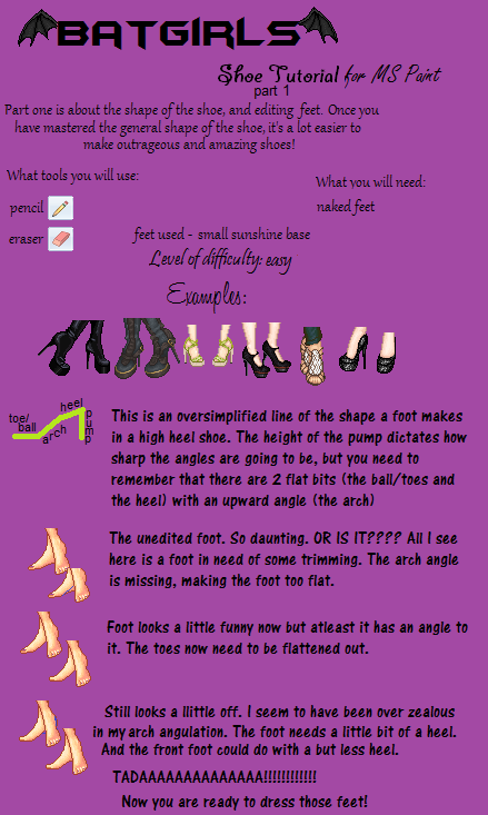 Shoe Tutorial part 1 by batty-mcbats