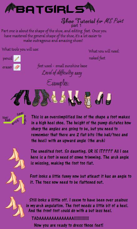 Shoe Tutorial part 1 by batty-mcbats