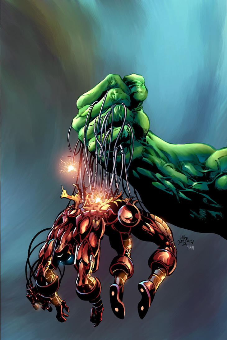 Incredible Hulk  73 by Mike Deodato JrIron Hulk
