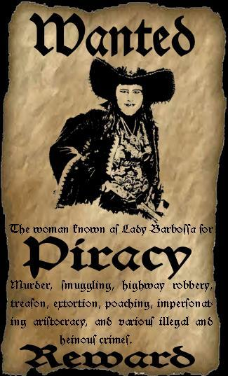 Wanted pirate by theladybarbossa on deviantart for Wanted pirate poster template