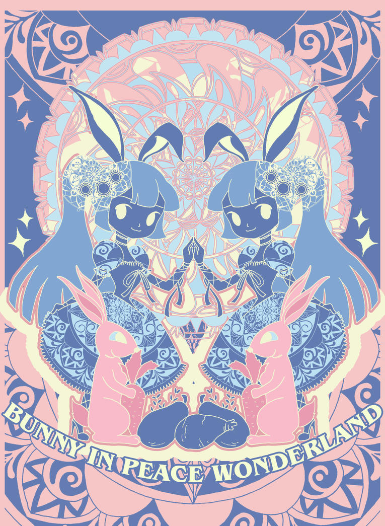 Bunny In Peace Wonderland by fromGreen