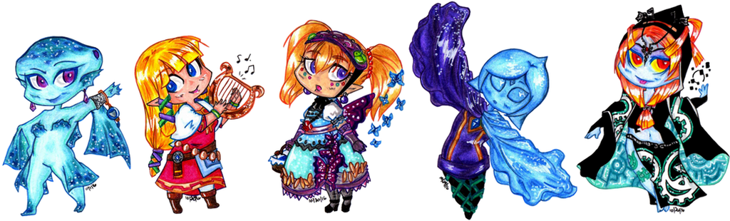 Here be some Legend of Zelda ladies by suzux